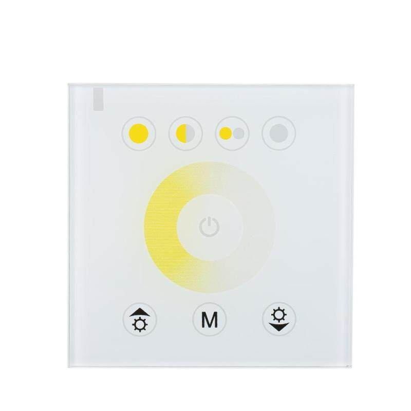 Buy Glass Touch Panel Dimmer Controller Wall Mounted Color Adjuster DC12V-24V for Hotel Home Club Decoration Malaysia