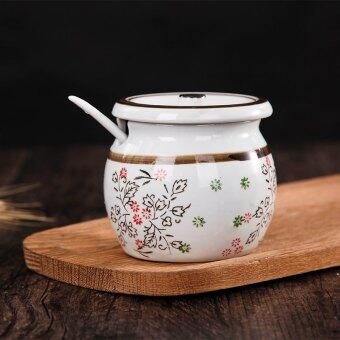Harga Glaze Color Ceramic spice jar seasoning Cylinder
