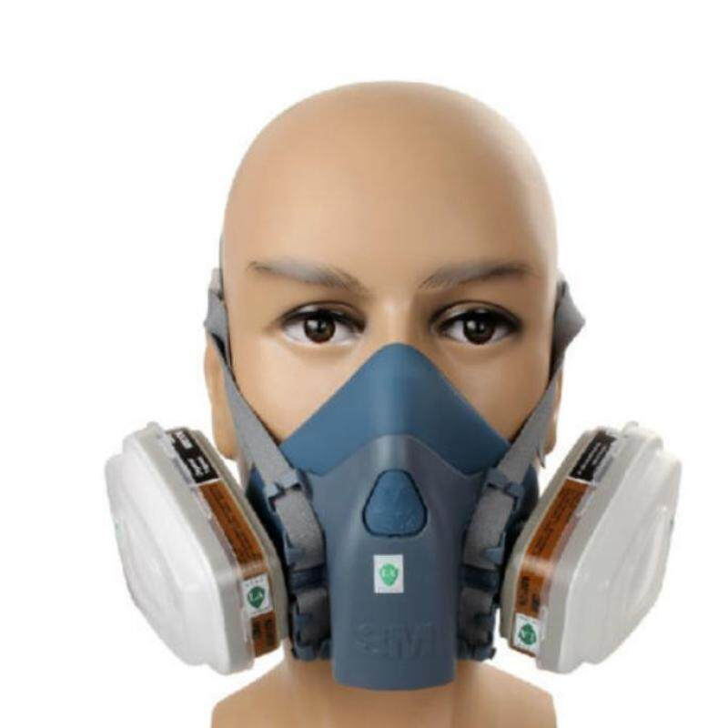 Buy Good Service 7 Piece Suit Half Mask Respirator Painting Spraying Face Gas Filters for 3M 7502 Malaysia