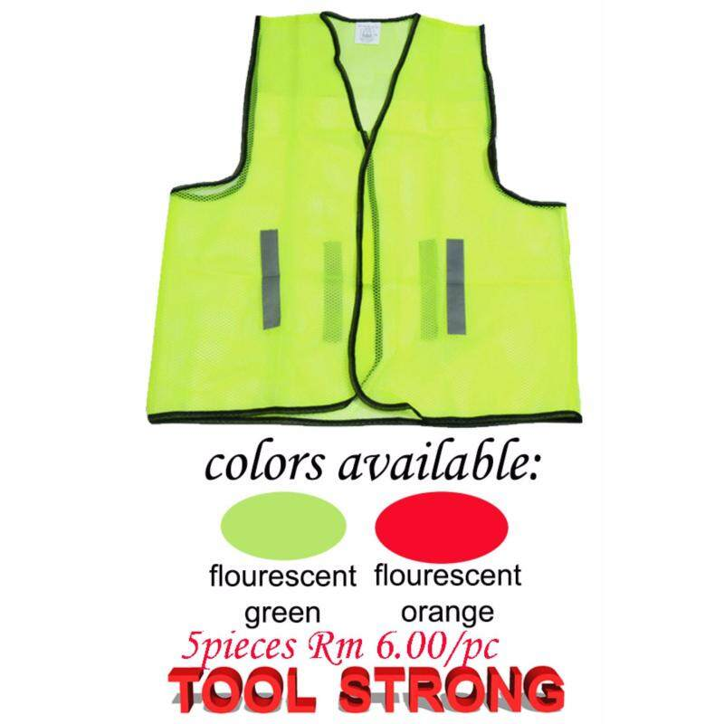 GREEN SAFETY VEST 5 PIECES