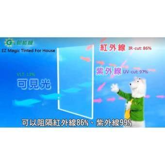 [GreenFilm] House Window Tinted Film_EZ MagicTint_60cm*210cm_Cut-UV&Heat_Deep Blue_Made in Taiwan & High Quality - 2