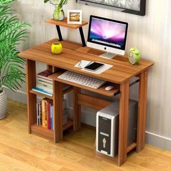 ... GTE Modern Design Eco Friendly Furniture Computer Table Study Shelf  Wooden Desk   Beige Malaysia ...