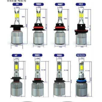 H1 H3 H4 H7 H8 H9 H11 H13 880 881 9004 9005 9006 9007 9012 COB CREELED 72W 8000LM 6500K Auto Car Headlights Kit Driving Bulbs Lamps - 2