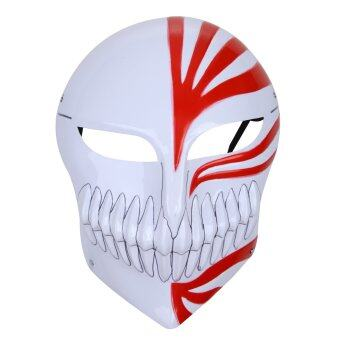 Harga Halloween Mask Death Cosplay Ichigo Kurosaki Masquerade Party Mask(Red)