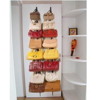 Hat Clothes Organ-izer Hanging Ca-p Rack Holder Over Door StrapsWith 16 Hook - 3