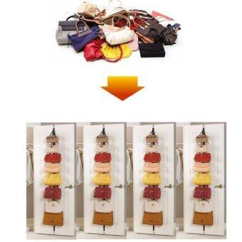 Hat Clothes Organ-izer Hanging Ca-p Rack Holder Over Door StrapsWith 16 Hook - 4