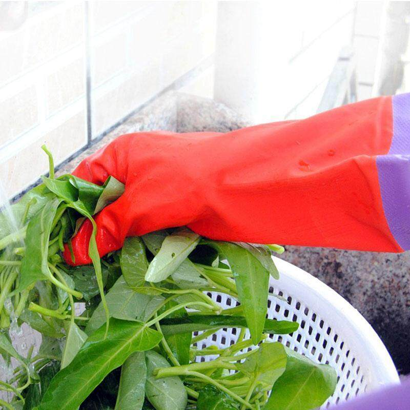 Buy High Quality Store New Garden Dish Washing Cleaning Rubber Protection Safety Laundry waterproof Gloves Malaysia