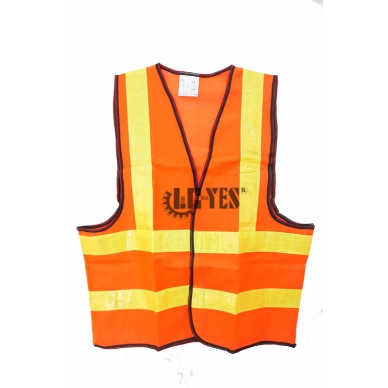 High Visibility Safety Waistcoat Warning Security Reflective Stripes Vest Fluorescent Neon Orange Green