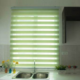 [Home Blind] Rainbow Blinds / Zebra Blinds / Korea Import / W137cmx H200cm / Roller Blinds / Window Blinds (Mint Green)