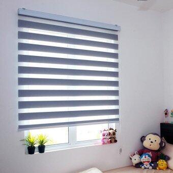 [Home Blind] Rainbow Blinds / Zebra Blinds / Korea Import / W193cmx H200cm / Roller Blinds / Window Blinds (Storm Cloud)