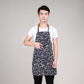Home kitchen halter apron chef clothes