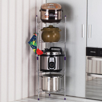 Home multi-storage cooking pot rack kitchen shelf - 2