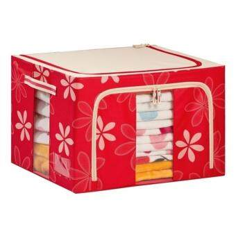 HomeWiz: 66L Large Oxford Cloth Dual Opening Spring Blossom Foldable Storage Box