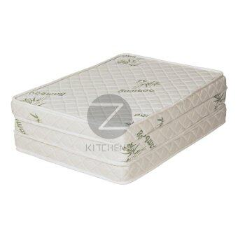 Homez 3 inch Foldable Anti-Static Bamboo Foam Mattress with Portable Carry Bag - Single