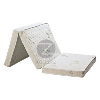 Harga Homez 3 inch Foldable Anti-Static Bamboo Foam Mattress withPortable Carry Bag - Single