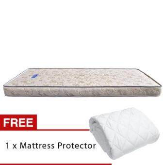 Homez Pure Foam Star 5 inch (127cm) Single Foam Mattress + Single Mattress Protector