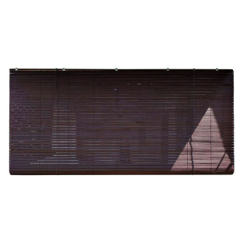 Homez Solid Blinds (W) 4 ft x (H) 6 ft 100% Meranti Wood WoodenBlinds - (Wenge)