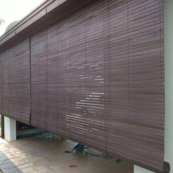 Homez Solid Blinds (W) 4 ft x (H) 6 ft 100% Meranti Wood WoodenBlinds - (Wenge)