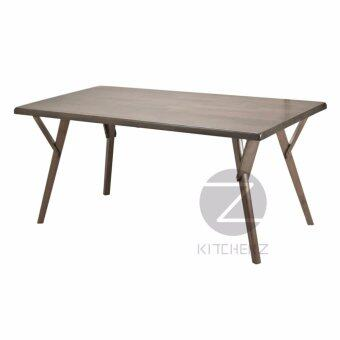 Homez Solid Wood Dining Table DT831+DC2234 with 6 Chairs - WALNUT