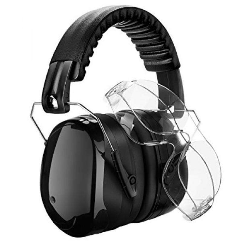 Homitt Sound Ear Muffs Hearing Protection Ear Defenders with 2 Protective Shooting Glasses and Carry Bag for Shooting, Hunting, Working or Construction