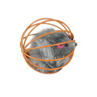 Harga Hot More Playing Toys False Mouse in Rat Cage Ball Gray/Orange