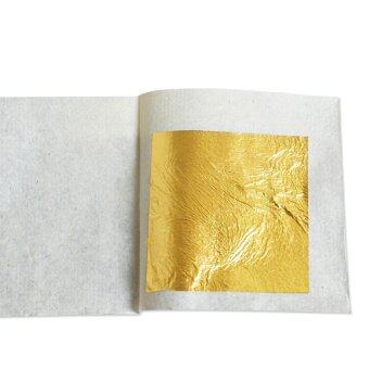 Hot selling, 10 pcs real gold leaf,pure gold foil,4.33X4.33cm,99.9% gold content,facial gold mask, edible gold leaf,gilding goldfor craftsculpturewallcar,and so on.