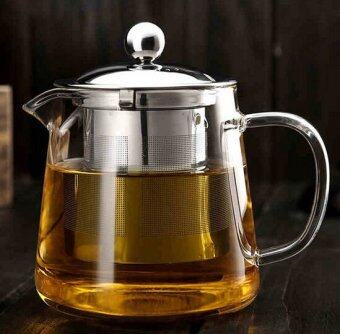 Harga Hot Selling Drinkware 600ml Teapot Glass Tea Pot High Quality TeaSet