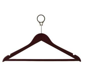Harga Hotel Standard Wooden Security Hangers (Pack Of 10) - CommercialAnti Theft Security Coat - Maple