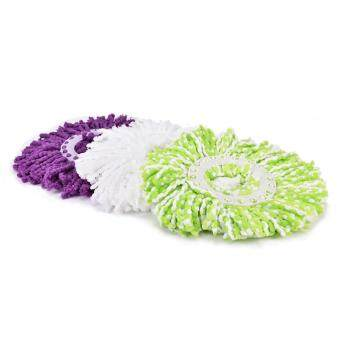 Household Magic Replacement Refill 360?Spin Cleaning Pad Microfiber Mop Head Green&White