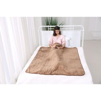 iGuerburn Electric Heated Over Blanket - 150W - 160*130cm - 200gsm Coral Fleece - Washable Chocolate Soft Fleece Throw - 1 to 9 Hour Timer - 10 Temperature Settings - 5