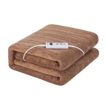 Harga iGuerburn Electric Heated Over Blanket - 150W - 160*130cm - 200gsm Coral Fleece - Washable Chocolate Soft Fleece Throw - 1 to 9 Hour Timer - 10 Temperature Settings