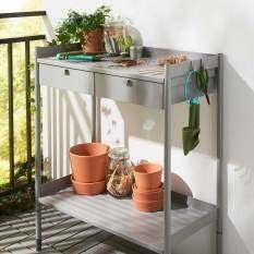 Ikea 702.917.22 Hindo Potting / Gardening Bench (Grey)