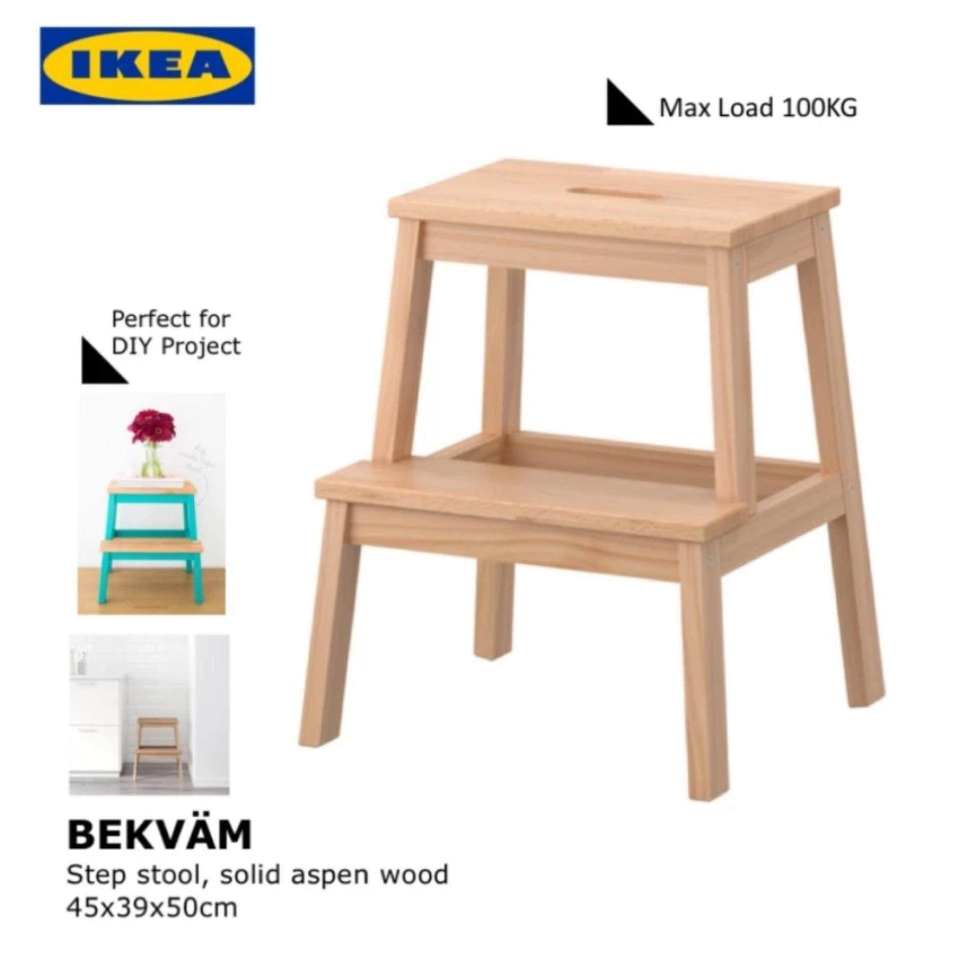 Buy IKEA BEKVAM Multipurpose Step Stool, Aspen Max Load 100kg, 45x39x50cm  Malaysia