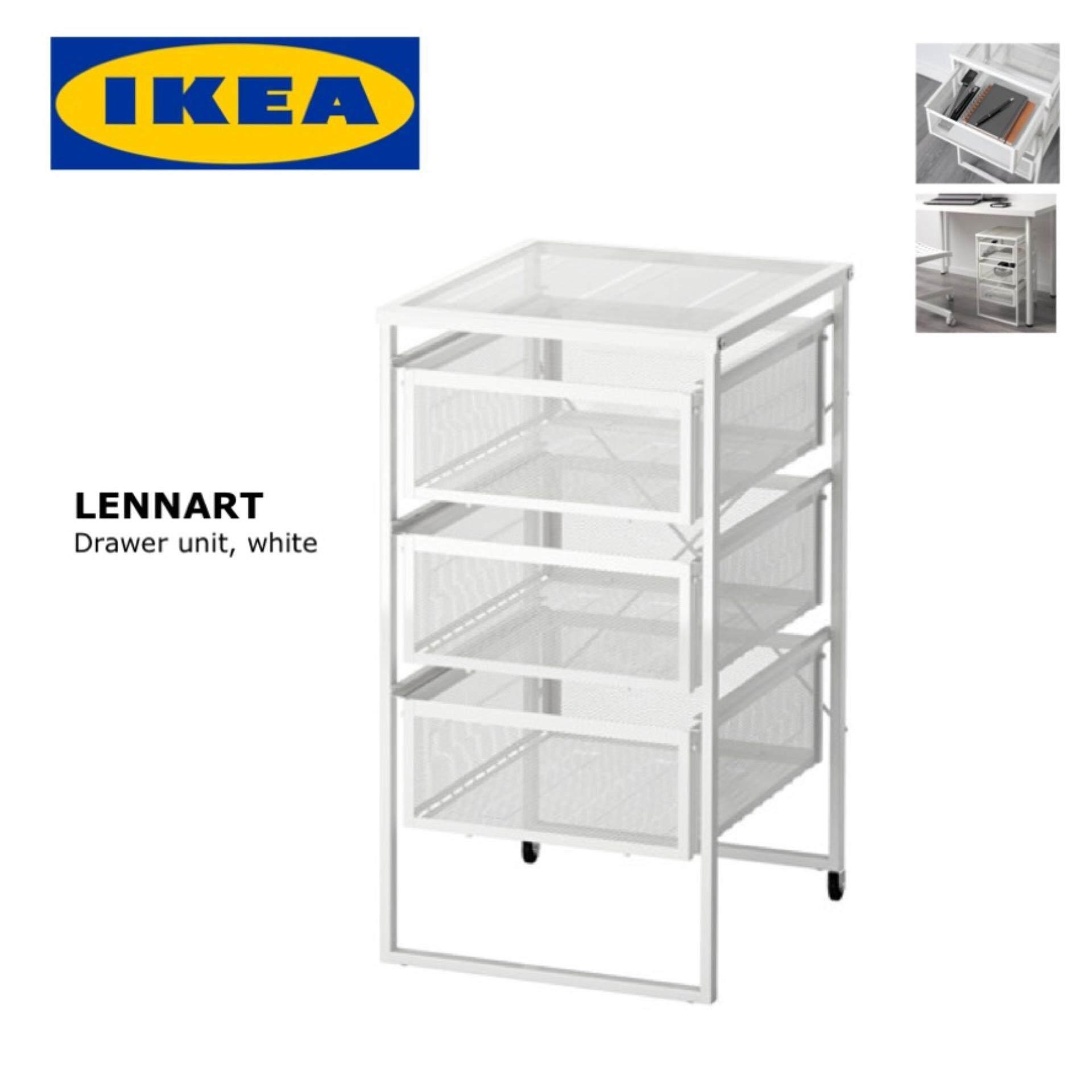 IKEA LENNART Office Drawer Unit, (white), 30x34x56cm | Lazada Malaysia