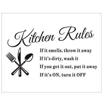 Harga Kitchen Rules Kitchen Waterproof Wall Sticker Decal