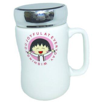 Harga My Cup Summer ceramic cup with lid-Chibi Maruko-chan