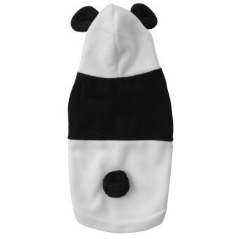 Harga Y429LCute Fleece Panda Clothes Warm Coat Costume Outwear Apparel for Pet cat Dog Dog Cat