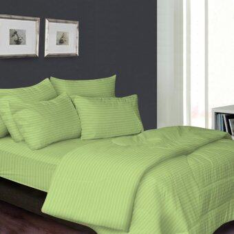 Harga Essina 100% Cotton 680TC Fitted Bedsheet set Colour Palette - Green