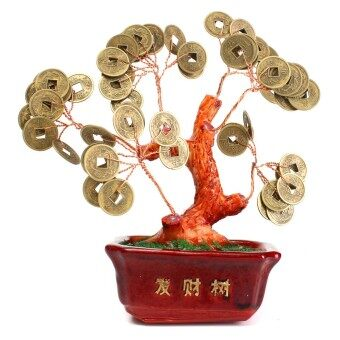 Harga Chinese Money Tree Coin Buddhist Blessed Feng Shui Fortune Lucky Home Decoration