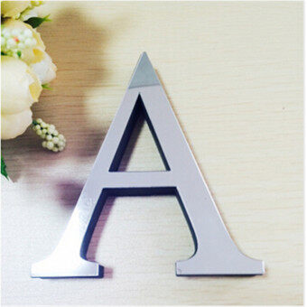 Harga New Acrylic Mirror 3D DIY wall stickers English letters home decoration creative personality