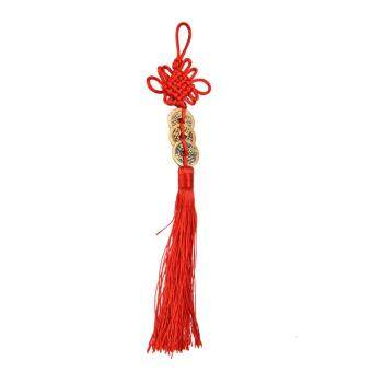 Harga Chinese Feng Shui Protection Fortune Lucky Charm Red Tassel String Tied Coins three