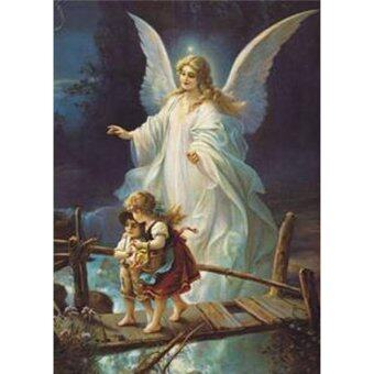 Harga 3D DIY Diamond Paintings Guardian Angels Diamond Embroidery Fantasy Art Angels Cross Stitch Needlework for Home Wall Decor