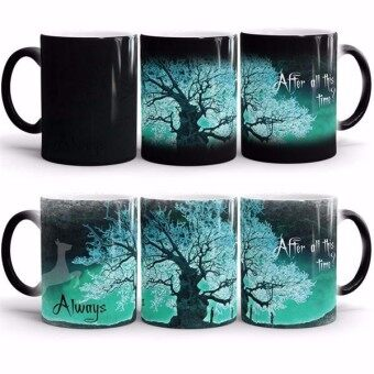 Harga harry potter mugs After all this time Always heat reveal mugs heat changing color cups coffee mug transforming disappearing mug(Green)