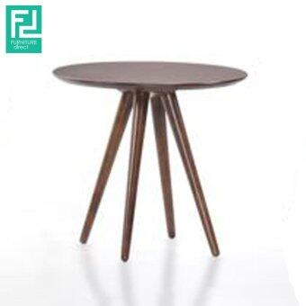 Harga Furniture Direct NEVADA wooden round side table- cocoa