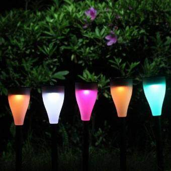 Harga Solar Light Garden Landscape Lawn Lamp Waterproof 7 Color Outdoor Party Light Set Of 5pcs