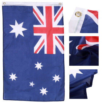 Harga 3x2' Australia Flag Outdoor Polyester National Aussie Banner With Metal Grommets