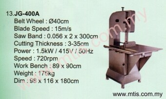 Harga JG400A Bone Saw Machine Fresh