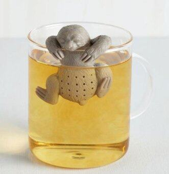 Harga New Cute Tea Leaf Strainer Filter Silicon Herbal Spice Infuser Diffuser SLOW BREW Sloth Tea Infuser Sloth Tea-making Equipment