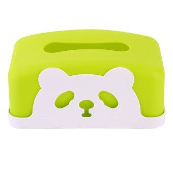 Harga Plastic panda Tissue Case Pumping Paper Holder Paper Box (Green)