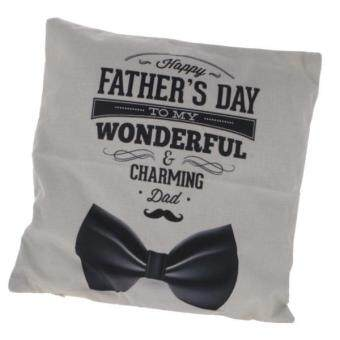 "Harga MagiDeal Fathers' Day Gift: ""HAPPY FATHER'S DAY TO MY WONDERFUL & CHARMING DAD"" Pillowcase"